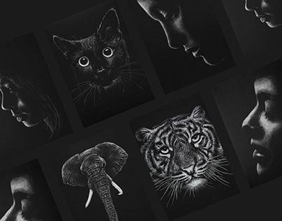Black paper artwork