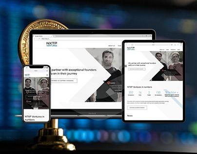 Sitio web corporativo fintech. Global.