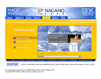 Nagano Winter Olympic Website: Snowlet Eye