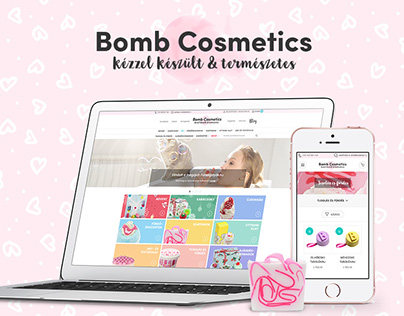Bomb Cosmetics Hungary branding and e-commerce website