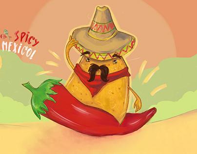 Spicy Mexico| illustration