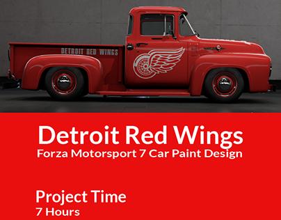 Detroit Red Wings Forza Motorsport 7 Car Paint Design