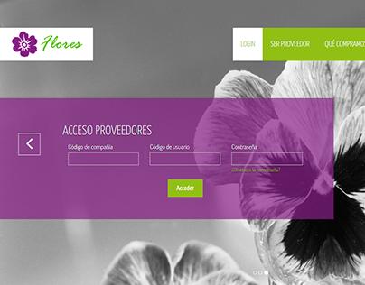 Acceso de proveedores one page
