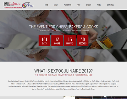 Expoculinaire.com Design & Development