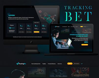 Landing page Tracking Bet / web design