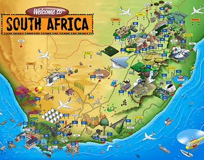 Tourist Map South Africa
