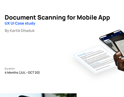 Document Scanning for Mobile App - UX UI Case Study