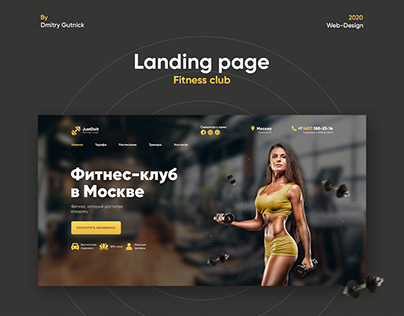 Landing page for fitness club