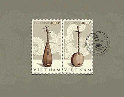 |POSTAGE STAMP| Vietnamese Traditional Instruments