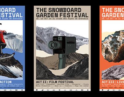 The Snow Garden Festival [identity, graphic design]