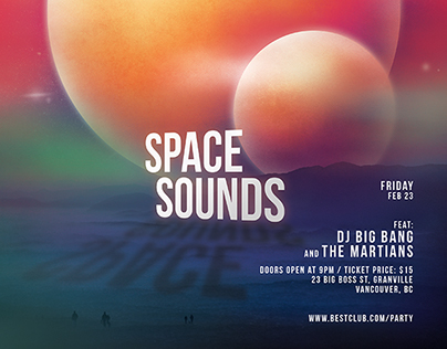 Space Sound Party Flyer