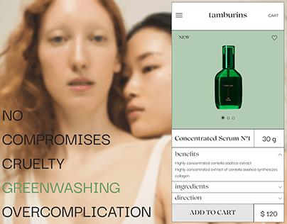 Tamburins Cosmetics - Website