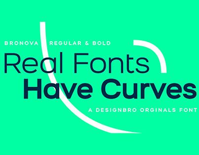 Free Bronova Sans Serif Font