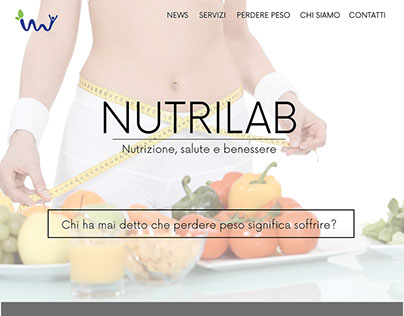Nutrilab. Advertising, Web design.