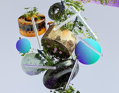 Nature - 3D illustration set