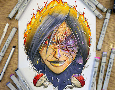 Naruto fanart : Madara Out of Hell