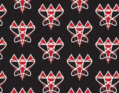 heart-diamond pattern design