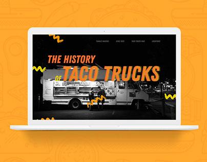 The History of Taco Trucks Website
