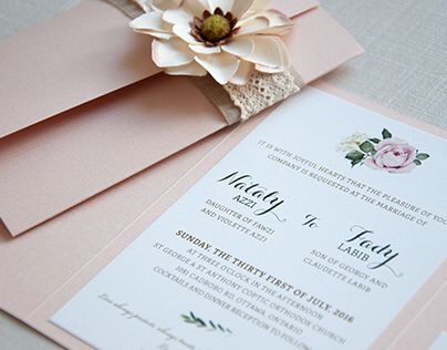 Wedding Invitation - Vintage/Tuscan