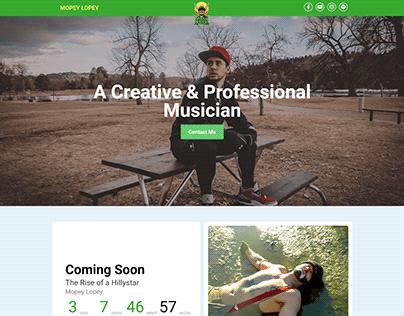 Musical Elementor WordPress Website