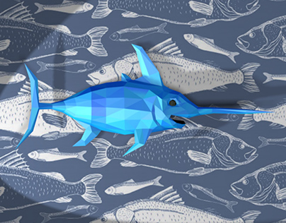 Papercraft swordfish
