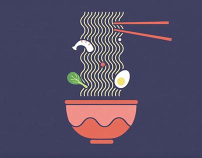 Animated Ramen Illustration