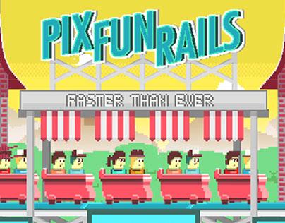 Pix Fun Rails - Roller Coaster Game