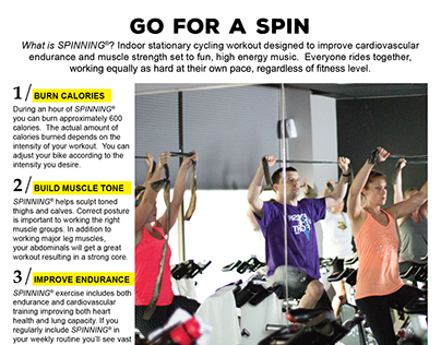 Poster Design / Workout Flyer / Spinning Classes
