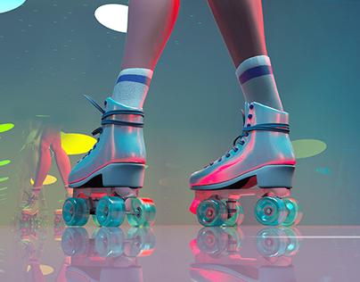 3D Roller Skates