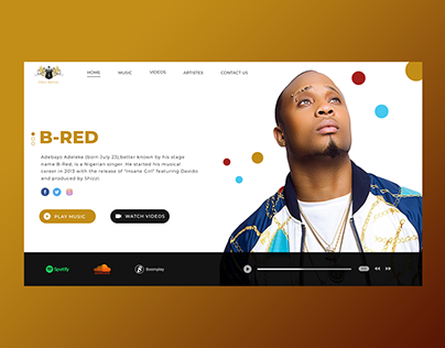 HKN MUSIC WEBSITE REDESIGN