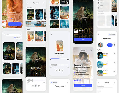 Kleio Book Listening App UI Kit