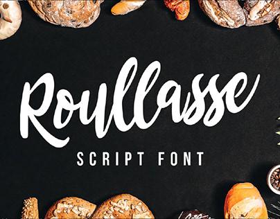 FREE | Roullasse Bold Script Font