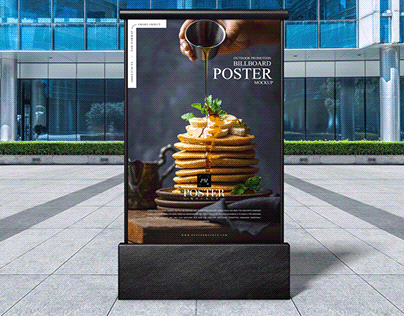 Outdoor Promotion Billboard Poster Mockup Free