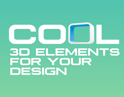 COOL 3D ELEMENTS FOR YOUR DESIGN
