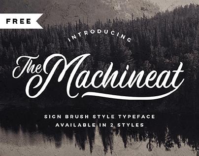 FREE | Machineat Script Font