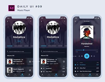 Daily Ui #009 _ Music Player