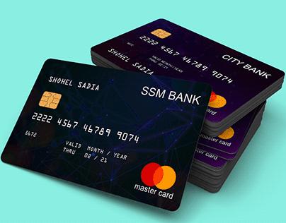 Unique Bank Credit Card Design