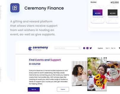 Ceremony Finance