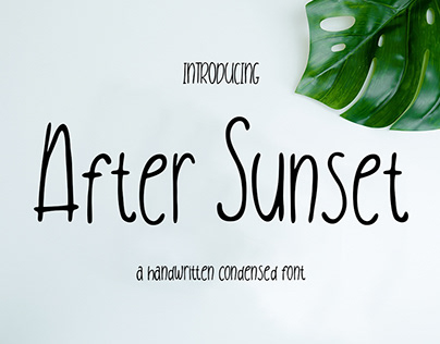AFTER SUNSET - FREE CONDENSED HANDWRITTEN FONT