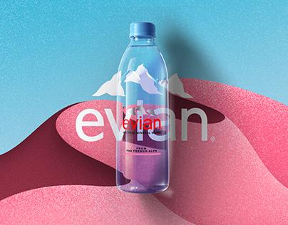 Evian - Through the bottle