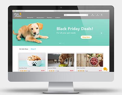 XD Creative Challenge Pet Supply eCommerce