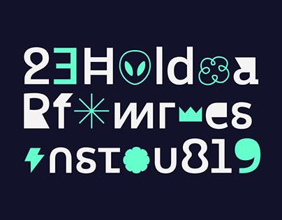 Altersan; Sans With Abstract Alternates