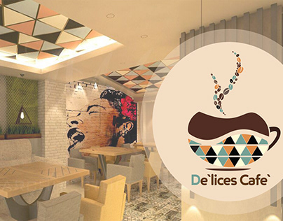Cafe` logo Design