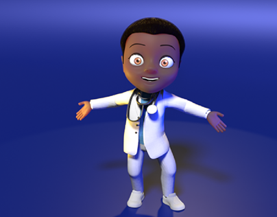 3D Doctor character for campaign.