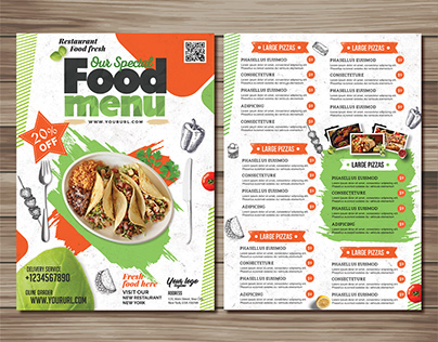 Restaurant Flyer & Menu Template