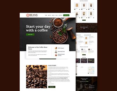 Coffee Bean E-commerce Landing Page