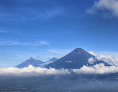 Drone flying in over Volcano Acatenango 🎥⛰️😱