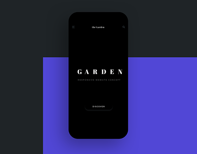 the Garden - Responsive Website Concept