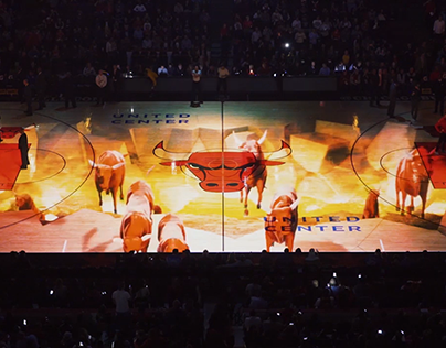 Chicago Bulls 3D Court Projection Mapping