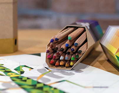 ¡yeah! brand concept — packaging for colored pencils